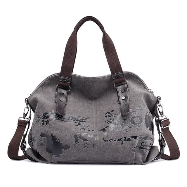 Women crossbody bags large casual tote - Light grey - Canvas_Tote_2020