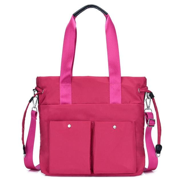 Women crossbody bags nylon tote - Hot Pink - Canvas_Tote_2020