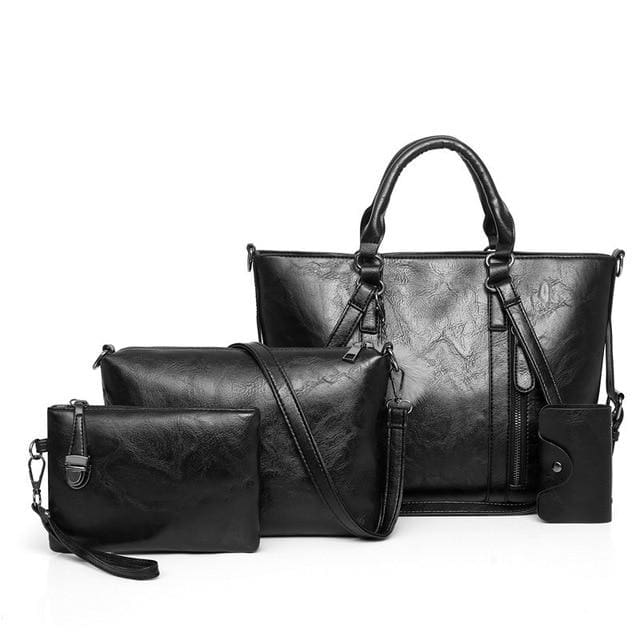 Women Handbags 4 Set - Black / About 31cm 14cm 24cm - Women_Bags