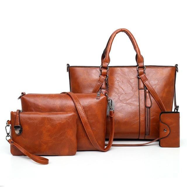 Women Handbags 4 Set - Brown / About 31cm 14cm 24cm - Women_Bags