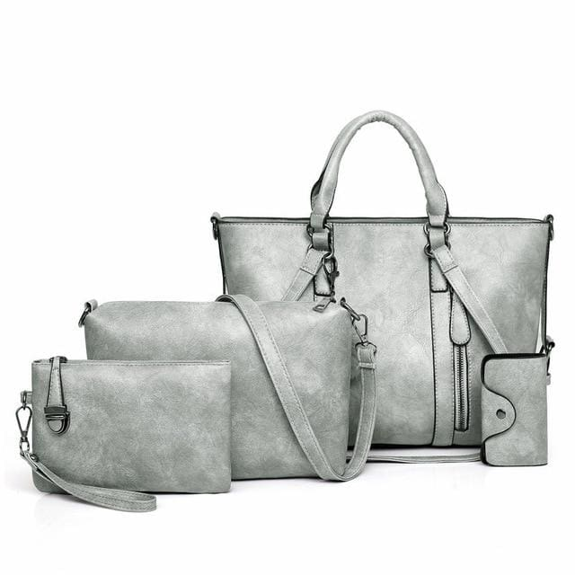 Women Handbags 4 Set - Gray / About 31cm 14cm 24cm - Women_Bags