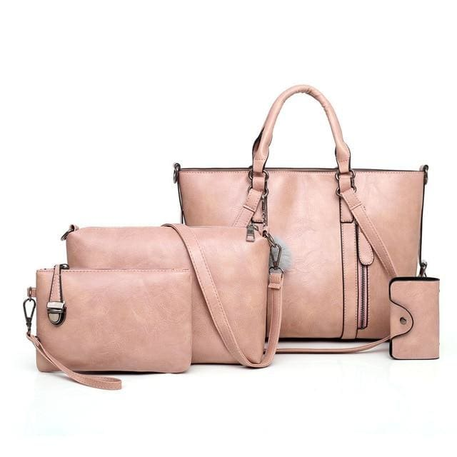 Women Handbags 4 Set - Pink / About 31cm 14cm 24cm - Women_Bags