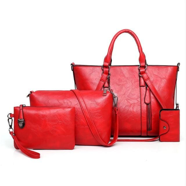 Women Handbags 4 Set - Red / About 31cm 14cm 24cm - Women_Bags