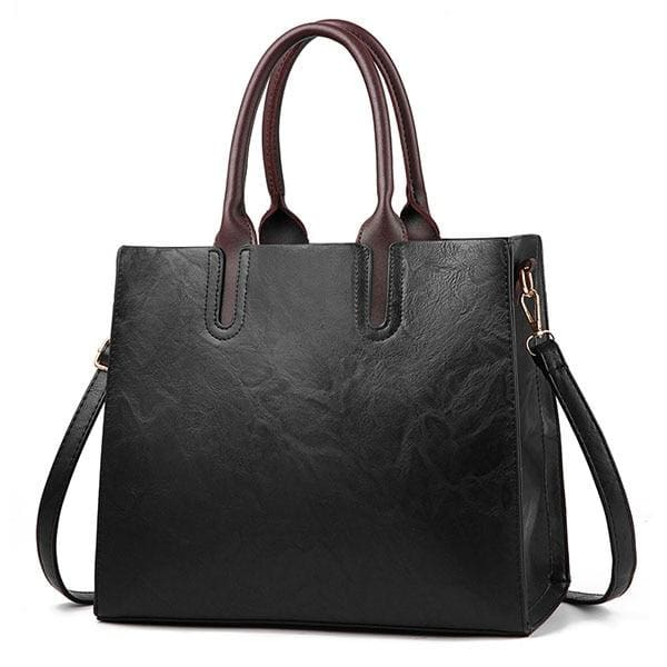 Women large capacity vintage hand Top-Handle - Black Hand Bag / 32 x 15 x 26cm - Women_Bags