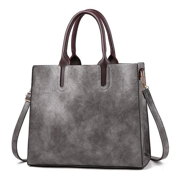 Women large capacity vintage hand Top-Handle - Gray Hand Bag / 32 x 15 x 26cm - Women_Bags