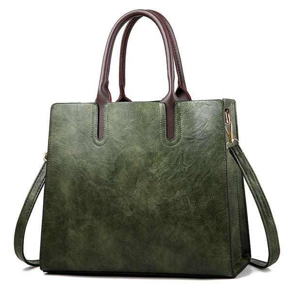 Women large capacity vintage hand Top-Handle - Green Hand Bag / 32 x 15 x 26cm - Women_Bags