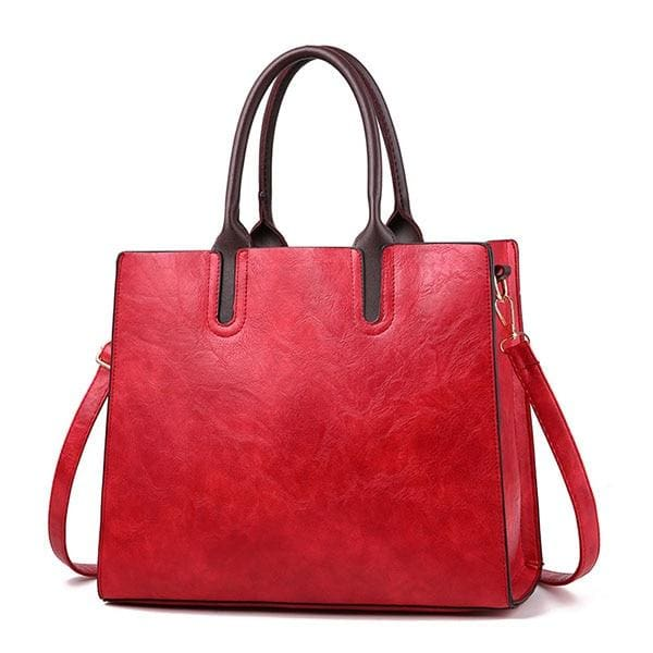 Women large capacity vintage hand Top-Handle - Winered Hand Bag / 32 x 15 x 26cm - Women_Bags