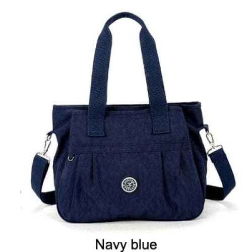Women nylon handbag crossbody - Navy blue - Canvas_Tote_2020