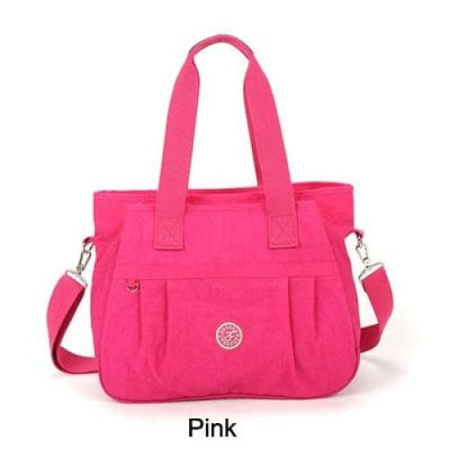 Women nylon handbag crossbody - Pink - Canvas_Tote_2020