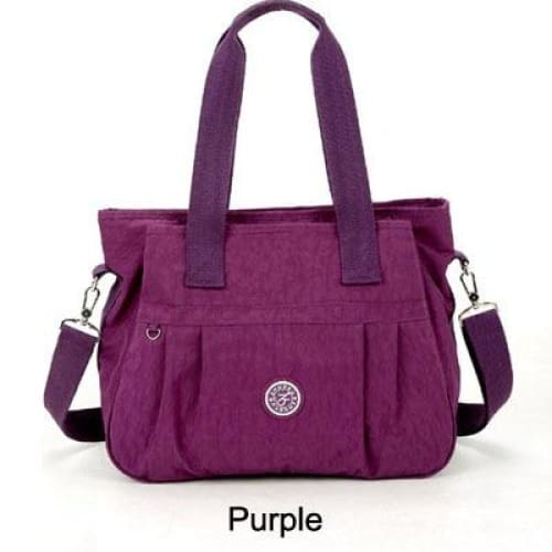 Women nylon handbag crossbody - Purple - Canvas_Tote_2020