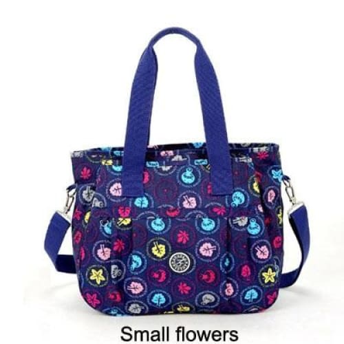 Women nylon handbag crossbody - Small flowers - Canvas_Tote_2020