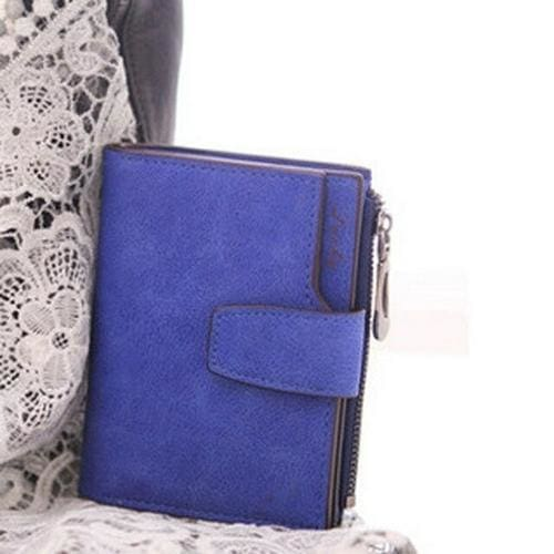 Women Purse Solid Color Mini Grind Magic - Blue - wallet