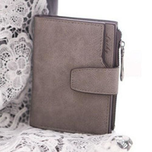 Women Purse Solid Color Mini Grind Magic - Grey - wallet