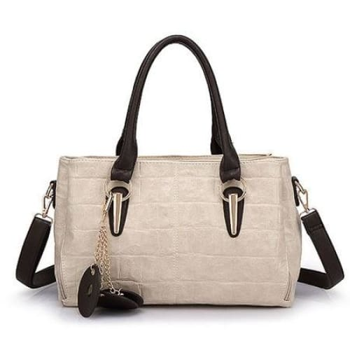 Women shoulder bag retro fashion - Beige - Canvas_Tote_2020