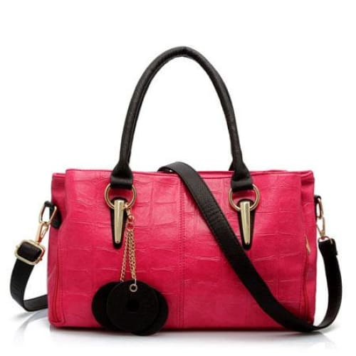 Women shoulder bag retro fashion - Hot Pink - Canvas_Tote_2020