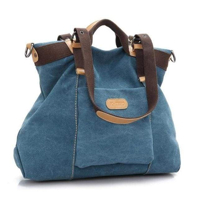 Women shoulder canvas Bag tote - Blue / (30cm<Max Length<50cm) - Canvas_Tote_2020