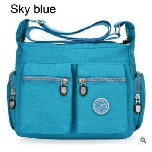 Women top-handle shoulder bag - Sky blue - Canvas_Tote_2020