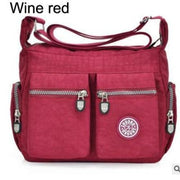 Women top-handle shoulder bag - Wine red - Canvas_Tote_2020