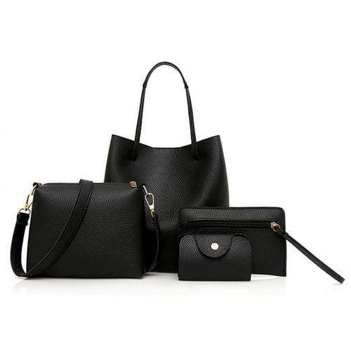 Women unique pattern leather 4pcs - 1 - Handbags