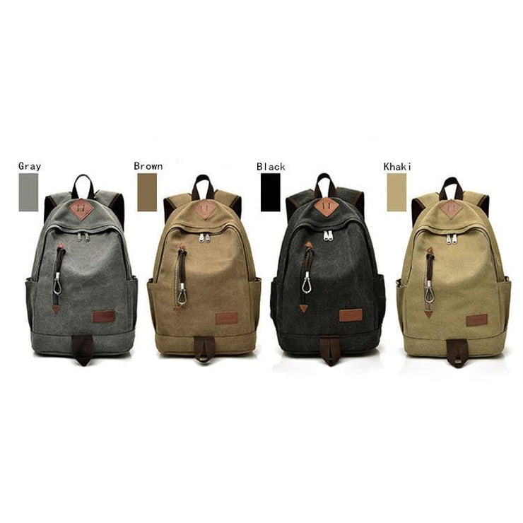 Women Vintage Travel Rucksack - Backpacp_Oct