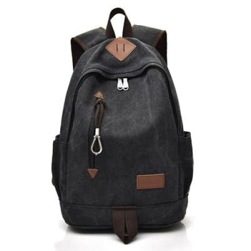 Women Vintage Travel Rucksack - Black - Backpacp_Oct