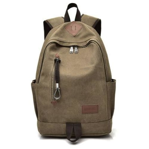 Women Vintage Travel Rucksack - Brown - Backpacp_Oct
