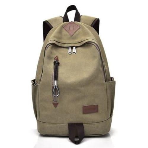 Women Vintage Travel Rucksack - Khaki - Backpacp_Oct