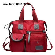 Women waterproof handbag nylon tote - red 2 / United States / (30cm<Max Length<50cm) - Canvas_Tote_2020