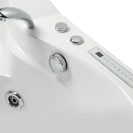 Mesa BT-084 Whirlpool Air Two Person Corner Tub - Houux