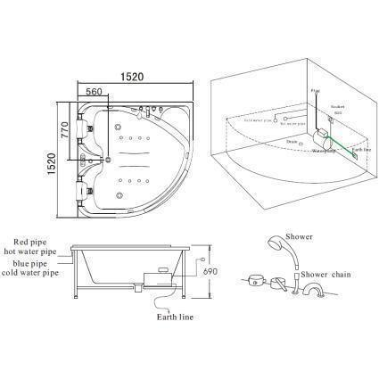 Mesa BT-150150 Two Person Whirlpool Tub Instructions