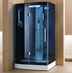 "Mesa WS-300A Steam Shower 47""W x 35""D x 85""H - Blue Glass - Houux"