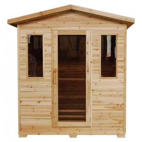 "SunRay Saunas Grandby 3 Person Outdoor FAR Infrared Sauna 72"" x 47"" x 83"" HL300D"