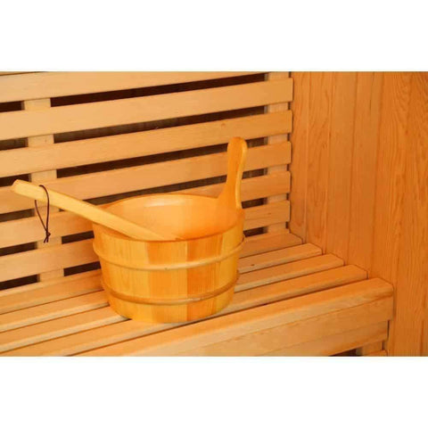 "Sunray Seacrest Luxury Traditional 2 Person Steam Sauna 59""x42""x75"" 220LX Seat"