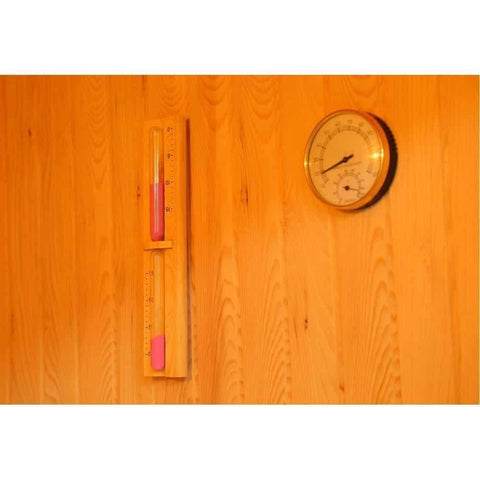 "SunRay Saunas Tiburon 4 Person Traditional Steam Sauna 69""x63""x79"" HL400SN Thermometer"