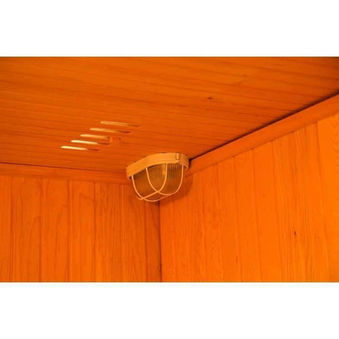 "Sunray Seacrest Luxury Traditional 2 Person Steam Sauna 59""x42""x75"" 220LX Inside"