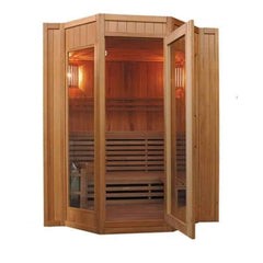 "SunRay Saunas Tiburon 4 Person Traditional Steam Sauna 69""x63""x79"" HL400SN - Houux"