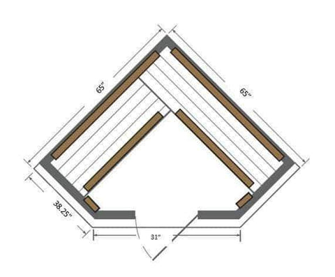 "Sunray Bristol Bay 4 Person Canadian Red Cedar Infrared Sauna 65"" x 65"" x 75"" HL400KC Instructions"
