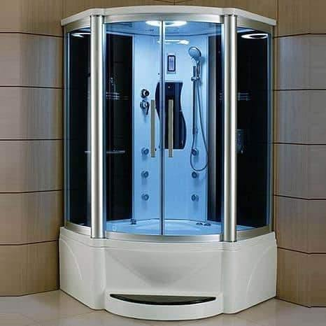 "Mesa 600P Steam Shower Tub Combo 55"" x 55"" x 87"" - Houux"