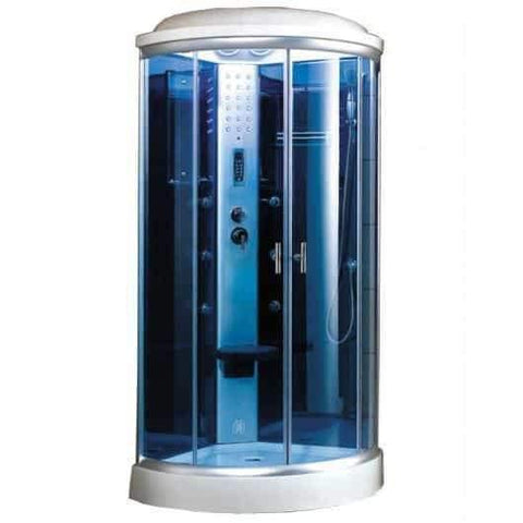 "Mesa 9090K Steam Shower 36""L x 36""W x 87""H - Blue Glass"
