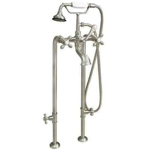 Cambridge Plumbing Clawfoot Tub Freestanding British Telephone Faucet & Hand Held Shower Combo CAM398463