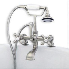 Cambridge Plumbing Clawfoot Tub Deck Mount Brass Faucet w/ Hand Held Shower CAM463-2