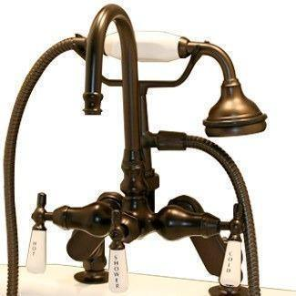 Cambridge Plumbing Clawfoot Tub Porcelain Lever Faucet - English Telephone CAM684D - Houux