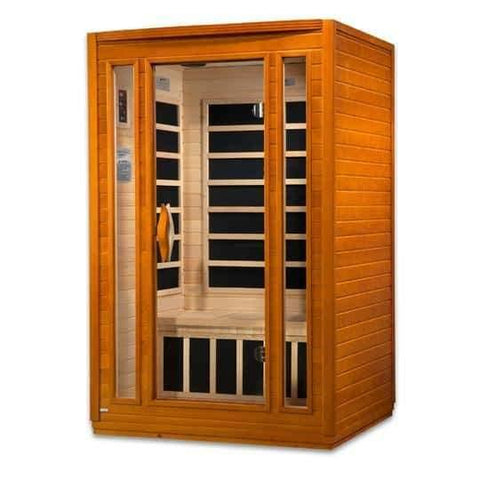 "Gold Designs Dynamic ""San Marino"" 2-Person Low EMF Far Infrared Sauna DYN-6206-01 - Houux"