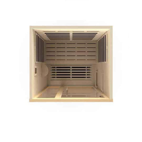 "Golden Designs Dynamic ""Amodora"" 2-person Low EMF Far Infrared Sauna DYN-6215-02 - Houux"