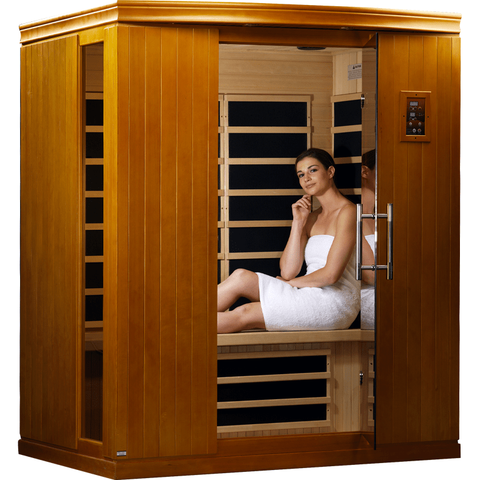 Golden Designs Infrared Sauna Dynamic Madrid II Edition 3 Person DYN-6310-02 - Houux