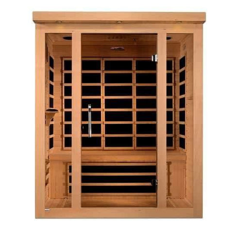 "Golden Designs Dynamic ""Porto"" 3-Person Low EMF Far Infrared Sauna DYN-6315-02 - Houux"