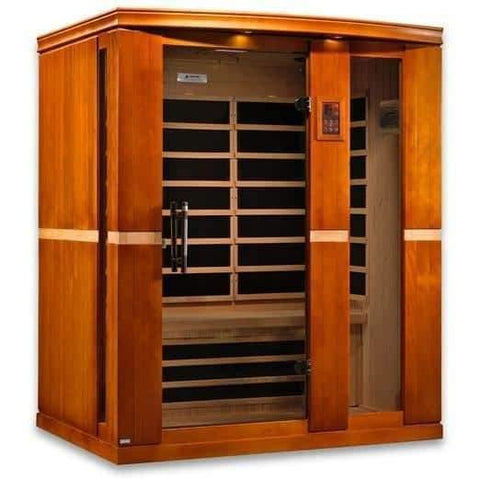 "Golden Designs Dynamic ""Palermo"" 3-Person Low EMF Far Infrared Sauna DYN-6330-01 - Houux"