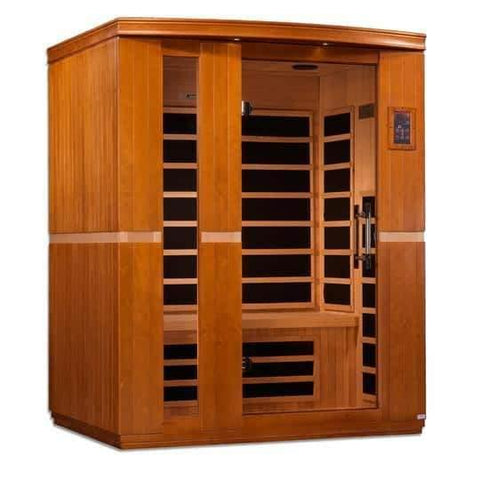 "Golden Designs Dynamic ""Lugano"" 3-person Low EMF Far Infrared Sauna DYN-6336-01 - Houux"