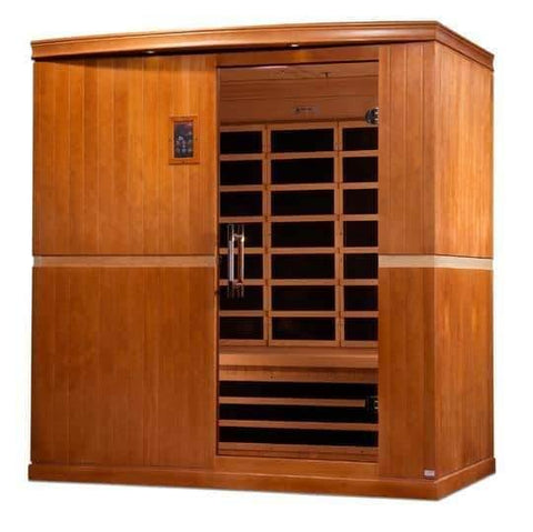 "Golden Designs Dynamic ""Grande Madrid"" 4-Person Low EMF Far Infrared Sauna DYN-6410-01 - Houux"