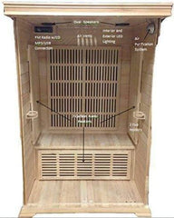SunRay Saunas Evansport 2 Person FAR Infrared Sauna Natural Canadian Hemlock 47